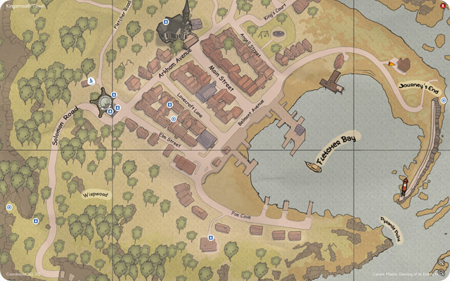 A map of the town of Kingsmouth